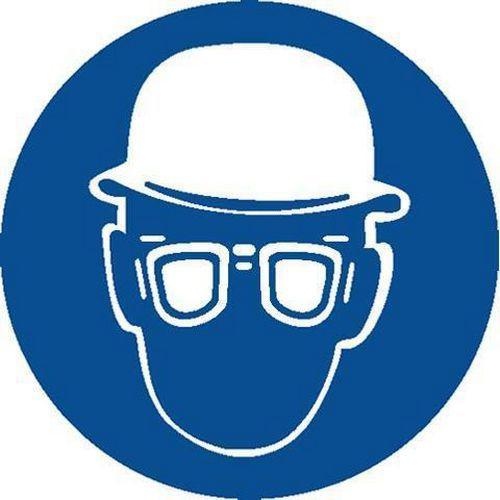 Utasító biztonsági táblák - Használj védőszemüveget