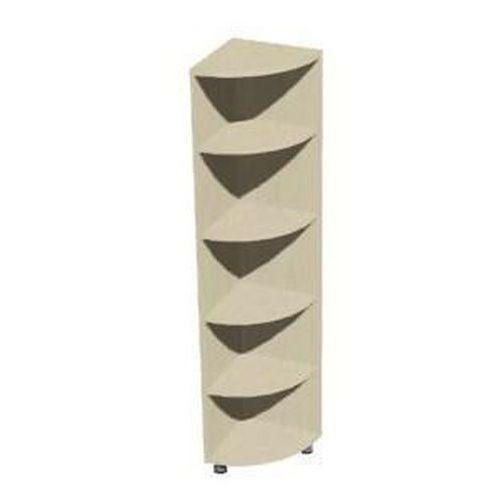 Set magas, keskeny szekrények, 191 x 40 x 40 cm, sarok - jobbos kivitel
