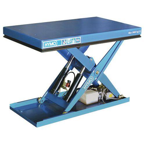 Hidraulikus emelőasztal, 2000 kg-ig, lemez 135 x 80 cm, 220 - 1 000 mm