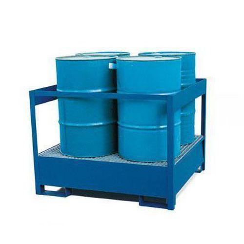 Állomás veszélyes anyagok számára, lakkozott, 4 hordó tárolására