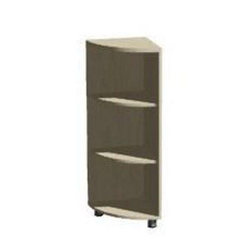 Abonent alacsony, keskeny szekrények, 77,4 x 40 x 40 cm, sarokkivitel