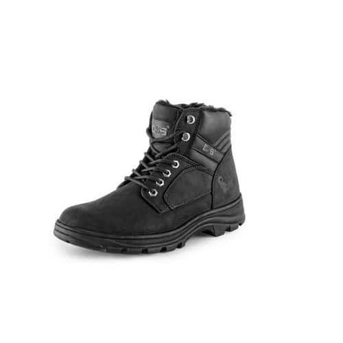 CXS Industry téli bőr munka bokacipő, fekete