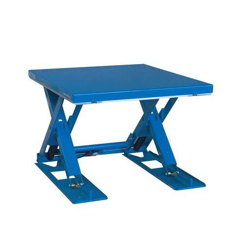 Hidraulikus emelőasztal, 1 000 kg-ig, lemez 135 x 105 cm