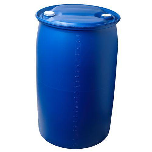 Műanyag hordó két záródugóval, 220 l