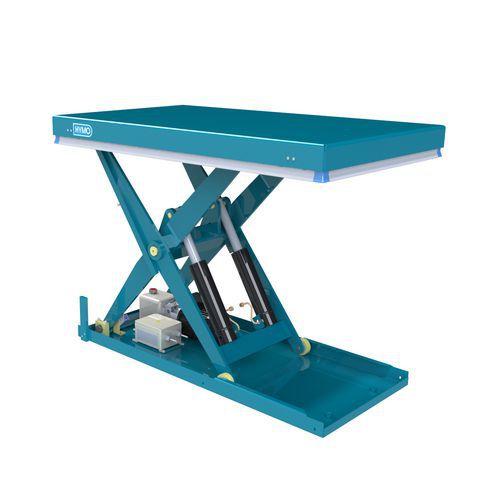 Hidraulikus emelőasztal, 2000 kg-ig, lemez 135 x 80 cm, 200 - 1 000 mm