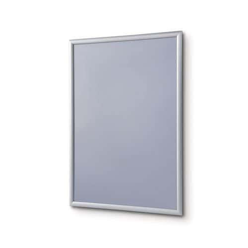 P25 plakátkeretek, hegyes sarkok, ezüst