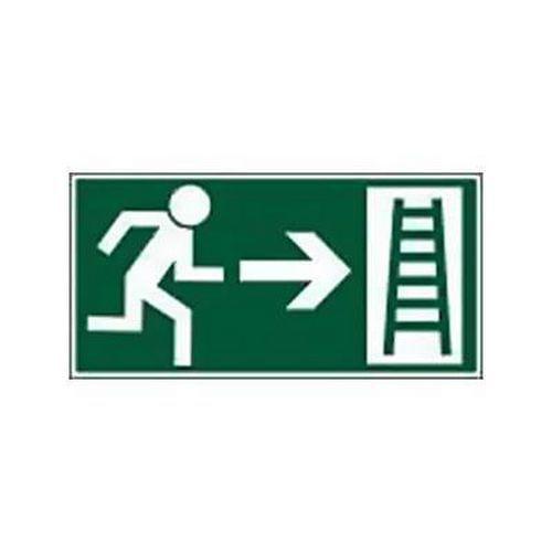 Menekülési foszforeszkáló biztonsági táblák - Menekülési létra jobbra