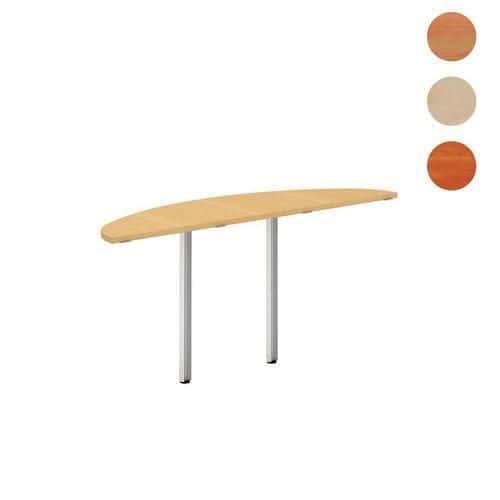 Alfa 100 asztal toldóelemek, 160 x 45 x 73,5 cm, félkör