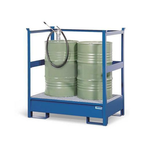 Veszélyes anyagok állomása, 2 db 200 l-es hordóhoz
