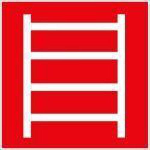 Tűzvédelmi foszforeszkáló biztonsági táblák - Tűzoltó létra