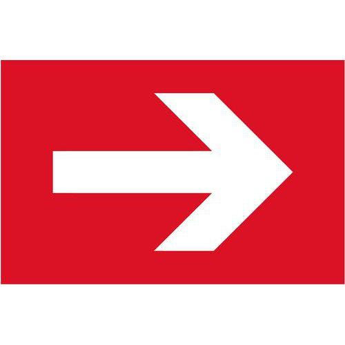 Tűzvédelmi foszforeszkáló biztonsági táblák - Tűzoltó berendezéshez irányító nyíl
