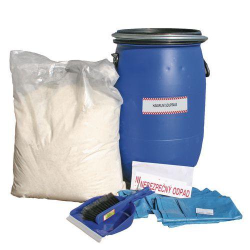 Baleseti készlet Reosorb víztaszító felitatóval, olajra, nedvszívó kapacitása 40 l