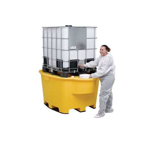 Műanyag felfogókádak IBC és KTC konténerekhez