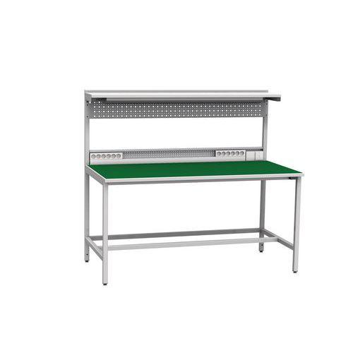 Hegesztett antisztatikus műhelyasztal, 141,2 x 160 x 81 cm