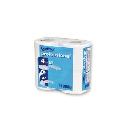 Celtex Professional WC-papír 2 rétegű, 12 cm, 55 m, 100 % fehér, 4 tekercs