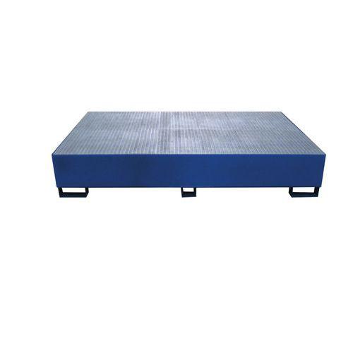 Acél felfogókádak pod IBC konténerek alá, űrtartalom 1 000 l, 40 x 150 x 230 cm