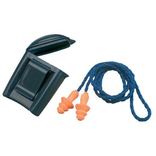 3M Box rovátkás füldugók madzaggal, 25 dB hangtompítás, 50 db