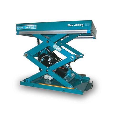 Hidraulikus emelőasztal, 400 kg-ig, lemez 80 x 60 cm