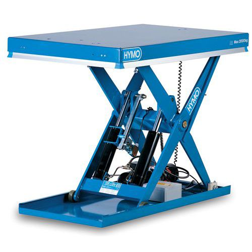 Hidraulikus emelőasztal, 1 000 kg-ig, lemez 120 x 80 cm