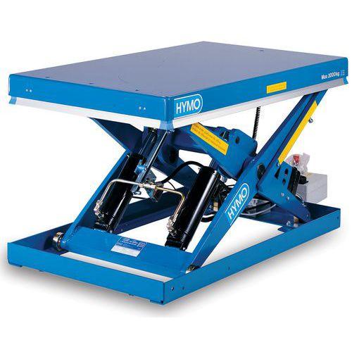 Hidraulikus emelőasztal, 3000 kg-ig, lemez 170 x 80 cm