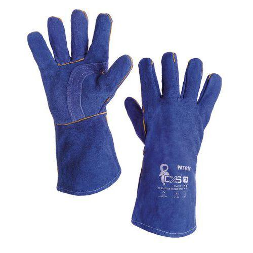CXS bőr kovácskesztyű, kék