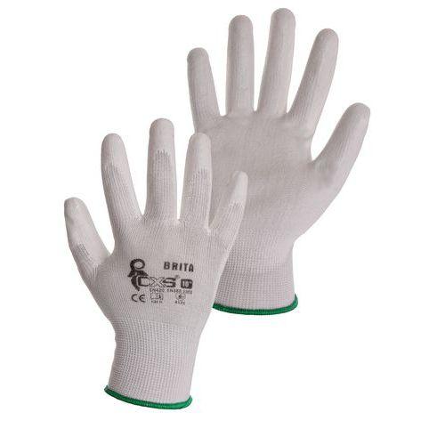 CXS félig poliuretánba merített poliészter kesztyű, fehér