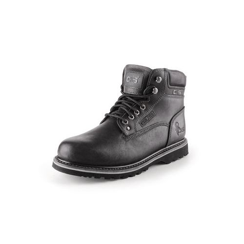 CXS Road bőr munka bokacipő, fekete