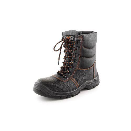 CXS Stone téli középszárú munka bőrcipő acél heggyel, fekete