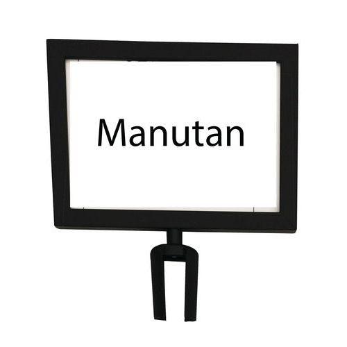 Manutan információs tábla torlaszoló oszlopokhoz, 2 m, fekete