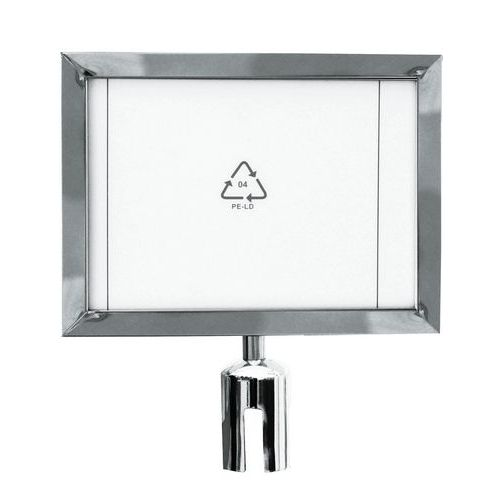 Manutan információs tábla torlaszoló oszlopokhoz, 2 m, ezüst