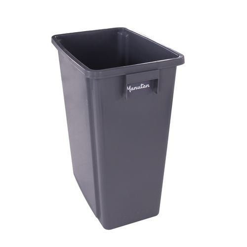 Manutan műanyag szemetes kosár szelektív hulladékgyűjtésre, 60 literes térfogattal