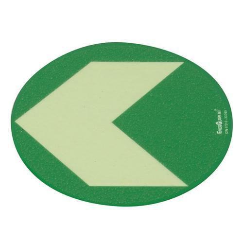 Menekülési foszforeszkáló padlójelzés - iránymutató nyíl