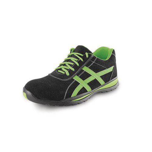 CXS Land Gavi bőr munkavédelmi félcipő, fekete/zöld