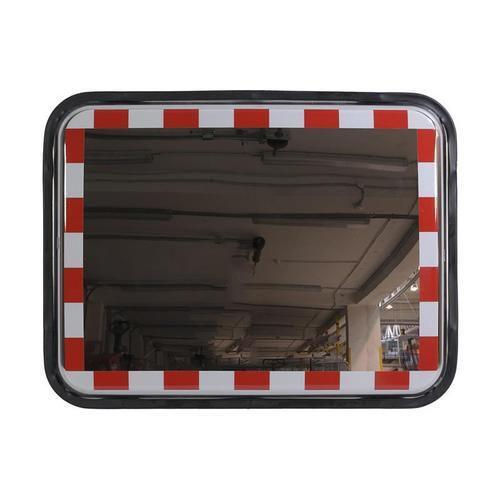 Téglalap alakú közlekedési tükrök, rozsdamentes acél