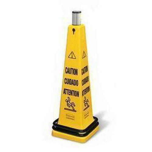 Rubbermaid Safety Cone hordozható figyelmeztető bója görgető szalaggal - Vigyázat