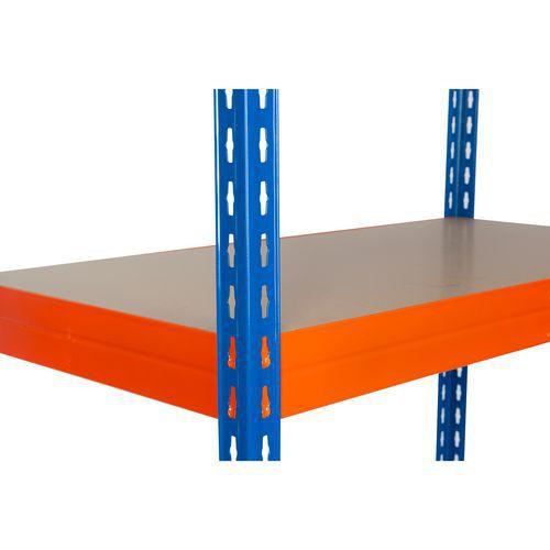 Kiegészítő farostlemez polcok, 180 cm, 375 kg, narancssárga