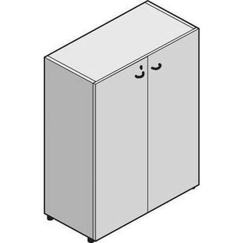 System közepes, széles szekrények, 131 x 86 x 45 cm, ajtóval