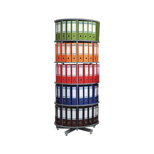 Forgó iratrendező szekrények, átmérője 81 cm, szürke