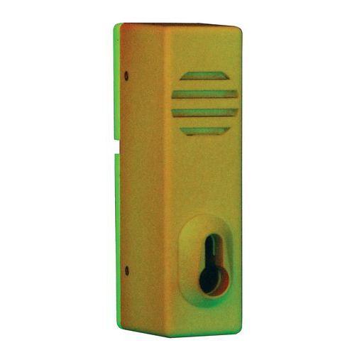 Foszforeszkáló vészkijárat őrző, oldalra tolható