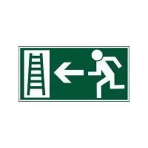 Menekülési foszforeszkáló biztonsági táblák - Menekülési létra balra