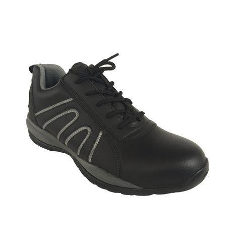 Manutan bőr tornacipő acél orrbetéttel, fekete/szürke