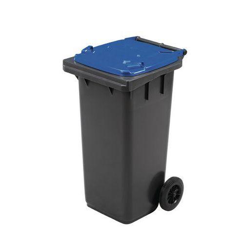 Manutan műanyag kültéri hulladékgyűjtők szelektív hulladékhoz, 120 l térfogat