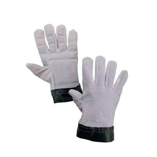 CXS antivibrációs bőr kesztyű, szürke/fekete