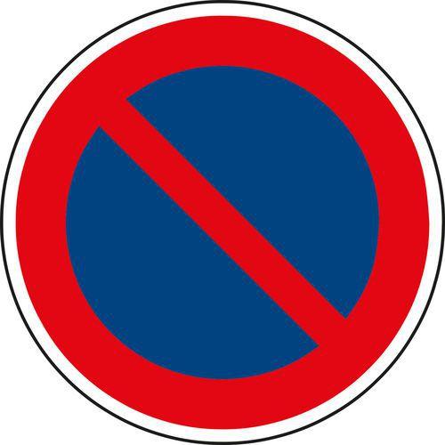 Várakozni tilos (B29) közlekedési tábla