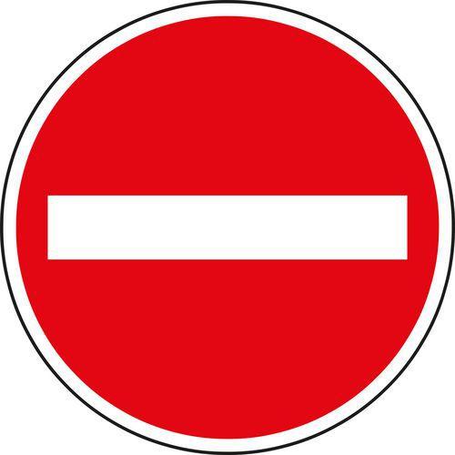 Behajtani tilos minden járműnek (B2) közlekedési tábla