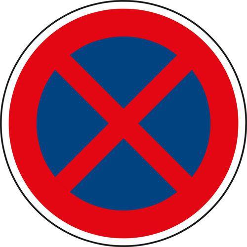 Megállni tilos (B28) közlekedési tábla