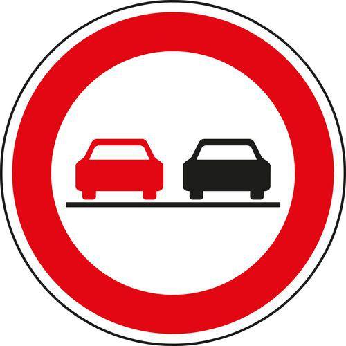 Előzni tilos (B21a) közlekedési tábla