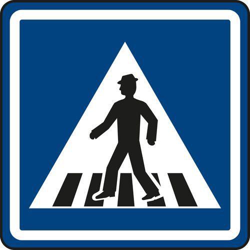 Gyalogos átkelőhely (IP6) közlekedési tábla