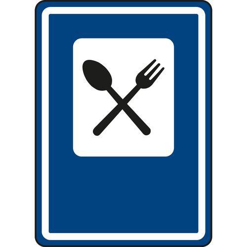 Étterem (IJ11a) közlekedési tábla