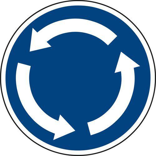 Körforgalom (C1) közlekedési tábla